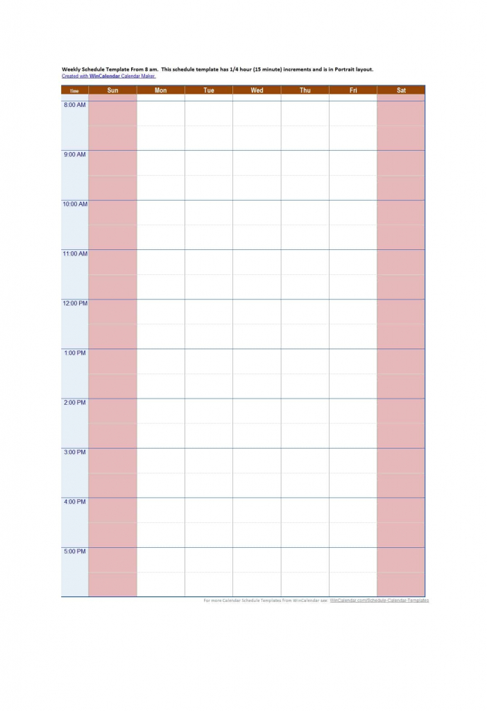 43 effective hourly schedule templates excel ms word hourly calendar 1