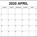 April 2020 Calendar Free Printable Monthly Calendars Printable 30 Day Calendar 2020