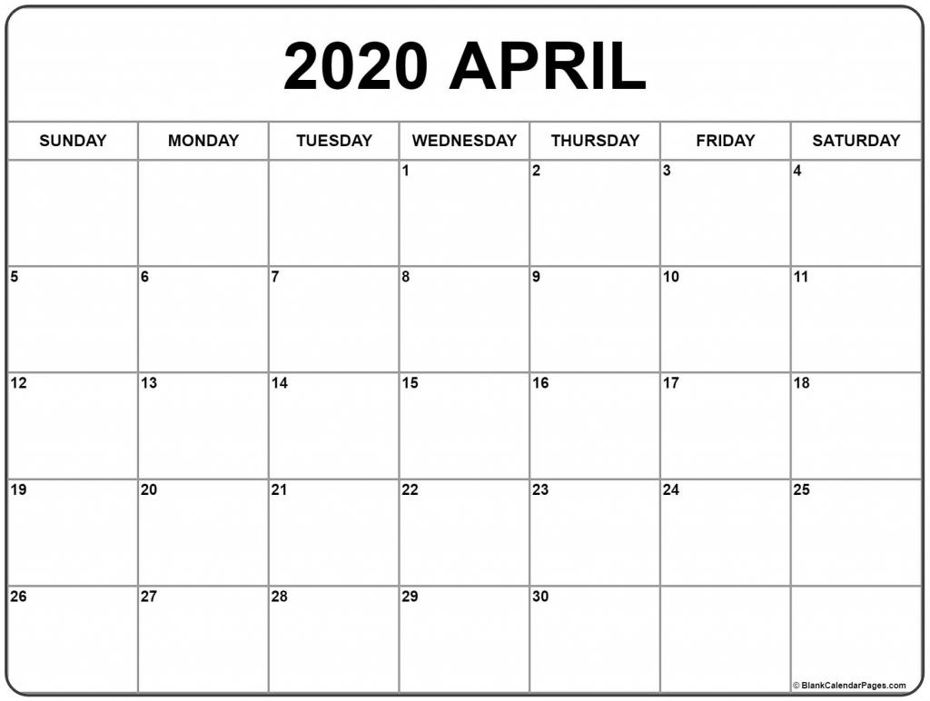 april 2020 calendar free printable monthly calendars to do calendar to print