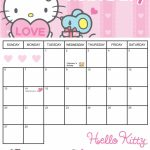 Blank Monthly Hello Kitty Calendar Printable Printable Sanrio 2020 Downloadable Calendar