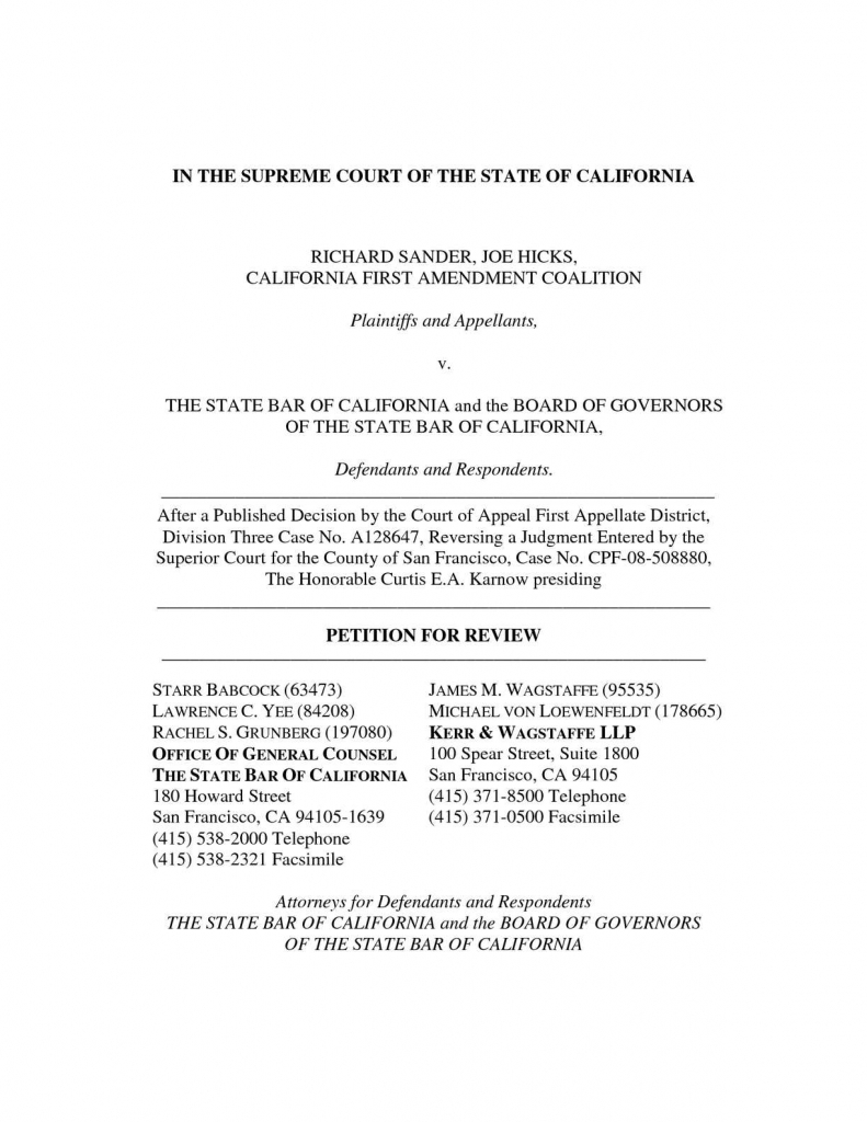 calamo state bar of california petition for review to district court and superior court query