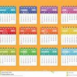 Calendar For 2019 Starts Sunday Vector Calendar Design 2019 Calendar 100000