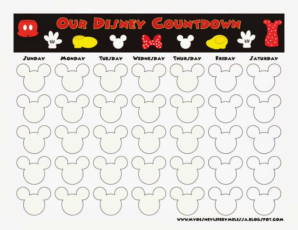 countdown calendar template remar free disney vacation countdown calendar