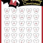 Disney Countdown Free Printable Disney Countdown Disney Countdown Calendar