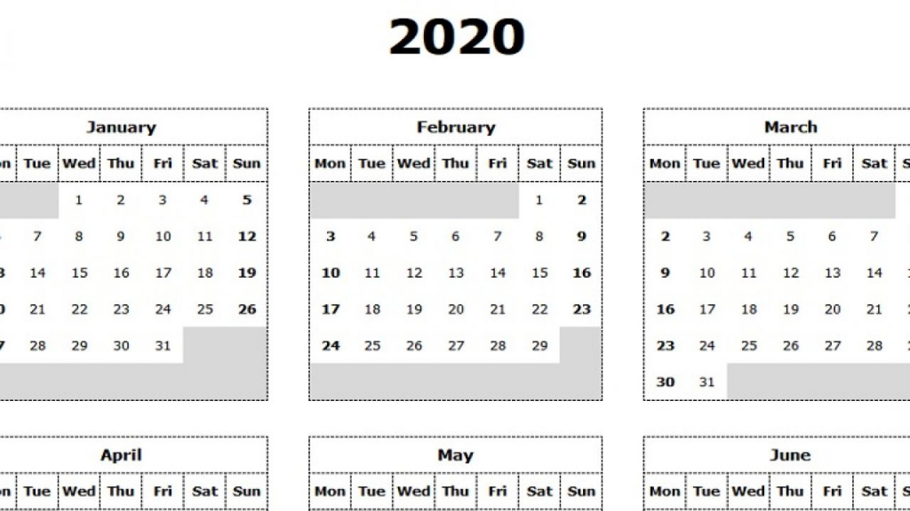 download 2020 yearly calendar mon start excel template yearly calender excel 24 hour