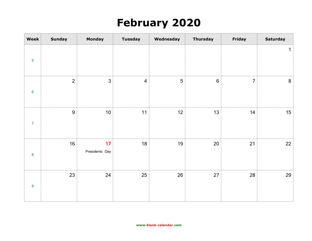 february 2020 blank calendar free download calendar templates printable calendar with notes on the side