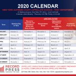 First Department 2020 Calendar Record Press Second Department Appellate Division Calendar