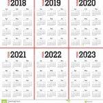 Free 5 Year Calendar Printable Calendar Printables Excel Calendar Next Five Years