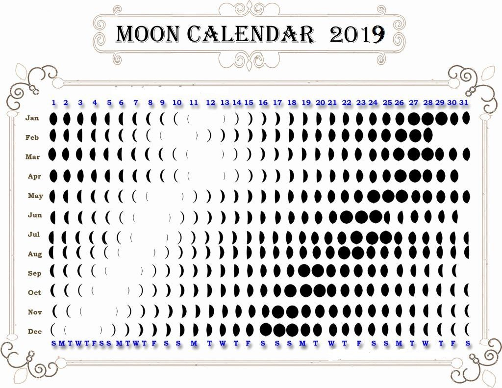 full moon and new calendar 2019 moon phase calendar moon printable moon phase chart