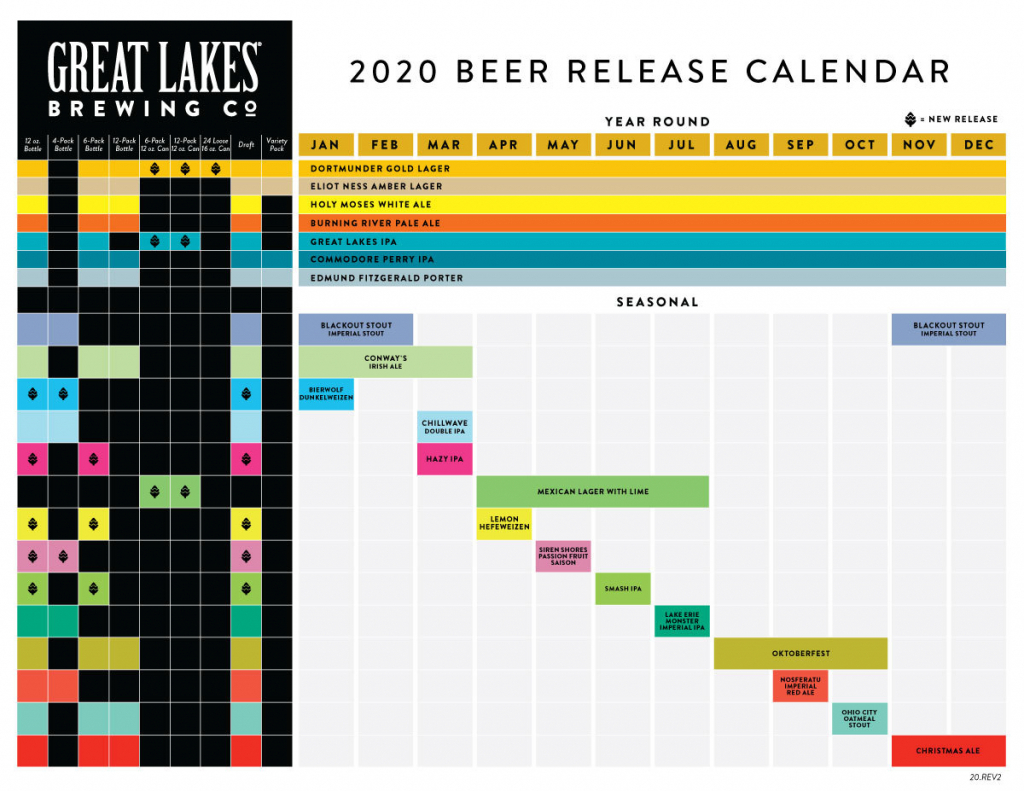 great lakes brewing co announces 2020 lineup new cans orange peel calendar october 2020