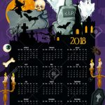Halloween Holiday Year Calendar Template Design Halloween Calendar Template