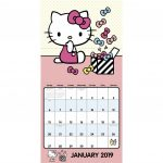 Hello Kitty Wall Calendar 2019 Calendar July 1 2018 Sanrio 2020 Downloadable Calendar