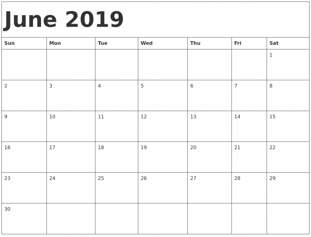 june 2019 printable calendar in pdf word excel with holidays 11 x 17 june calendar printable
