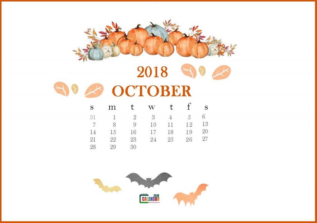 october 2018 desktop calendar wallpaper calendar wallpaper halloween calendar template