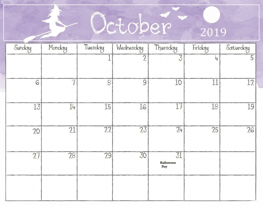 october 2019 calendar october calendar printable calendar halloween calendar template