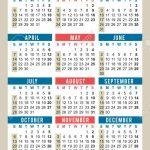 Pocket Calendar 2019 Start On Sunday Size 24 Wallet Size Calendar