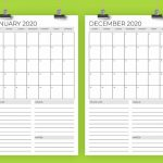 Print 2020 Calendar 11x17 Calendar Printables Free Templates 11 X 17 Calendar Template 2020 Printable