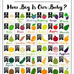 Printable Ba Growth Chart How Big Is Our Ba In 2020 Printable Pregnancy Chart With Pictures Week By Week