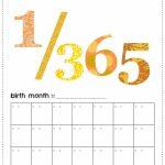 Printable Bas First Year Calendar Yellow Orange Printable Baby First Year Calendar