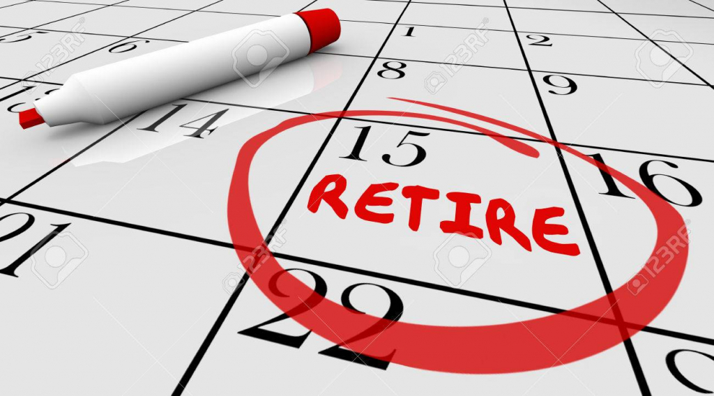 retirement day date circled calendar countdown stop working 3d illustration retierment calendar