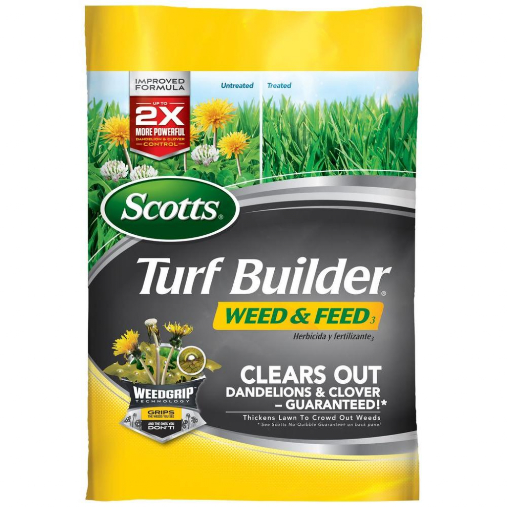 scotts turf builder 43 lb 15000 sq ft weed and feed lawn fertilizer scotts lawn care schedule great lakes