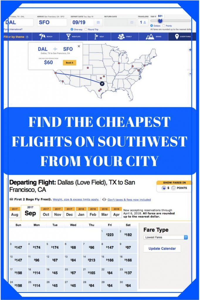 Southwest Low Fare Calendar How To Find Cheap Flights On South West Low Fair Clender