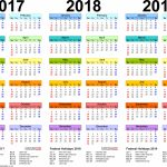 Template 1 Pdf Template For Three Year Calendar 20172018 Microsoft Online Yearly Calendar Templates Wallet Size