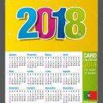 Useful Two Sided Calendar Calendar 2018 For Wallet Or Pocket Wallet Size Calendar