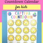 Vacation Countdown Calendar For Kids Kids Calendar Vacation Countdown Calendar