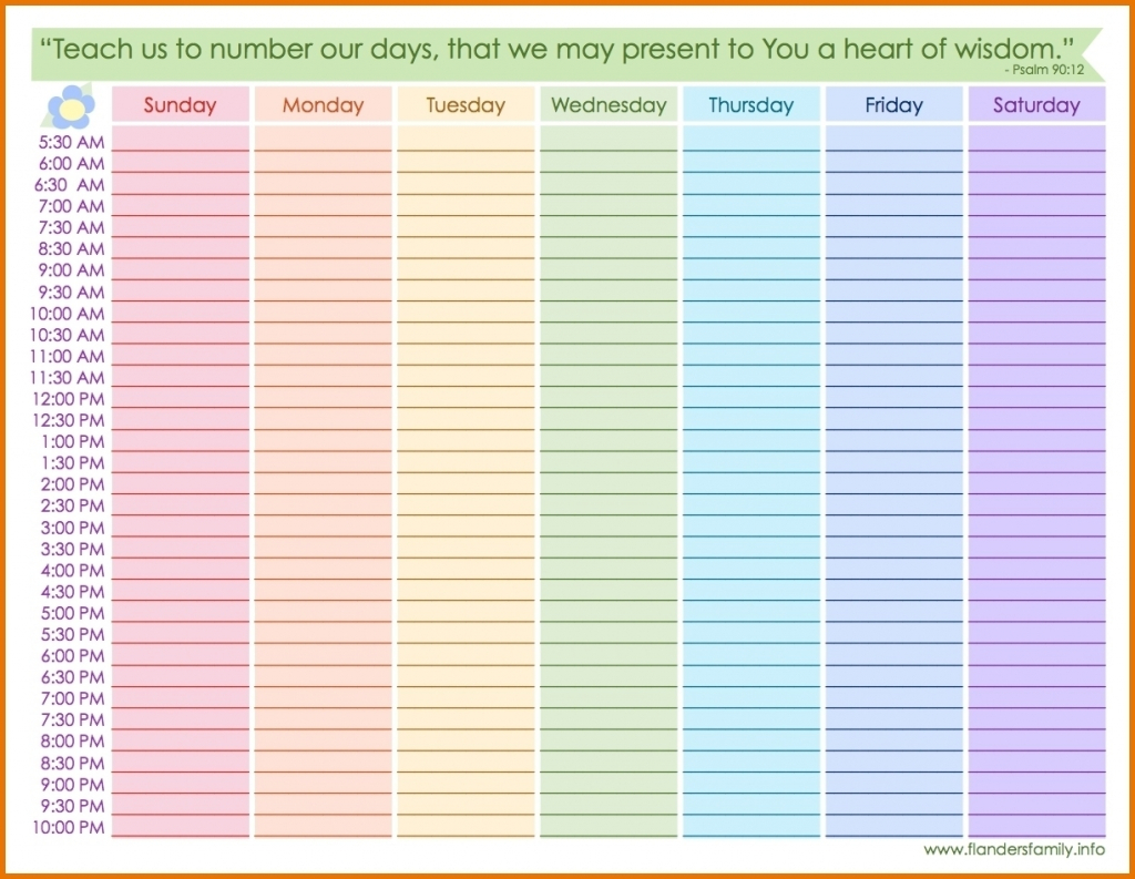 weekly calendar with hours printable calendar inspiration calandar with hours