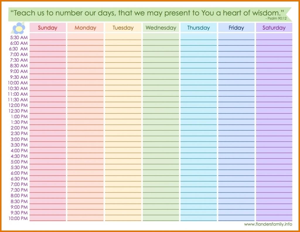 weekly calendar with hours printable calendar inspiration printable calendar hours