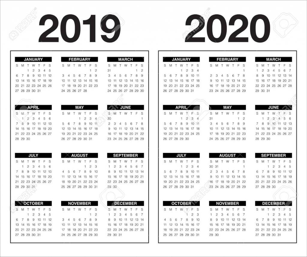year 2019 2020 calendar vector design template simple and clean design calendar 5 years
