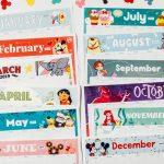 2019 Printable Calendar Featuring Disney Art Disney Family May Printable Calendar Disney 1