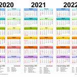 2020 2022 Three Year Calendar Free Printable Pdf Templates 3 Year Calendars