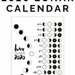 2020 Lunar Calendar Bullet Journal Printable Lunar Calendar 2020