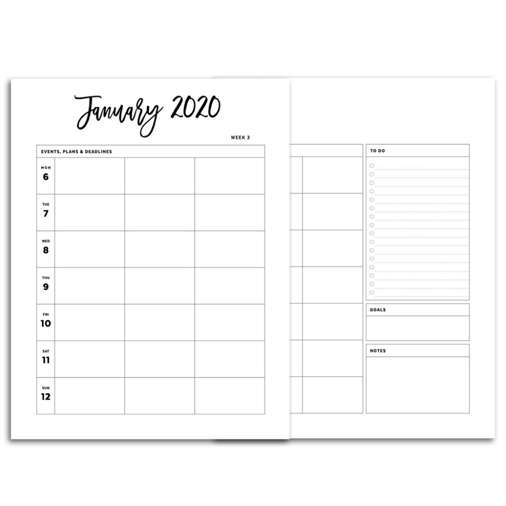 2020 weekly planner printable monday start 5 column city confetti saturday 5 year dated planner printable