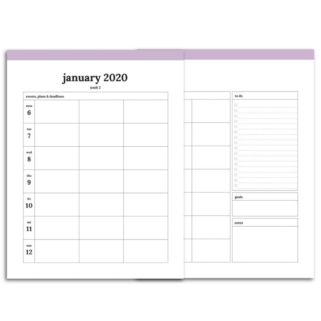 2020 weekly planner printable monday start 5 column classic confetti saturday 5 year dated planner printable