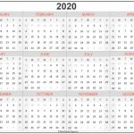 2020 Year Printable Calendar Calender For The Next 5 Years To Print