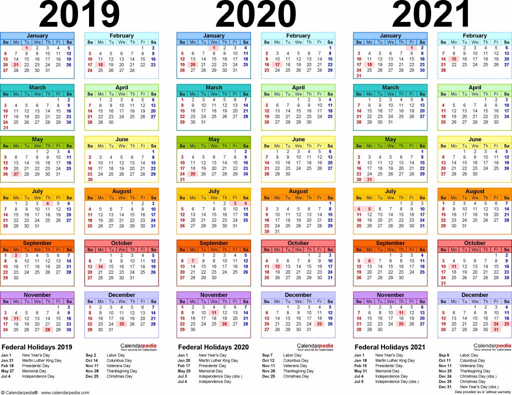 2021 calendar pdf 3 year calendar full page di 2020 dengan 3 year calendars