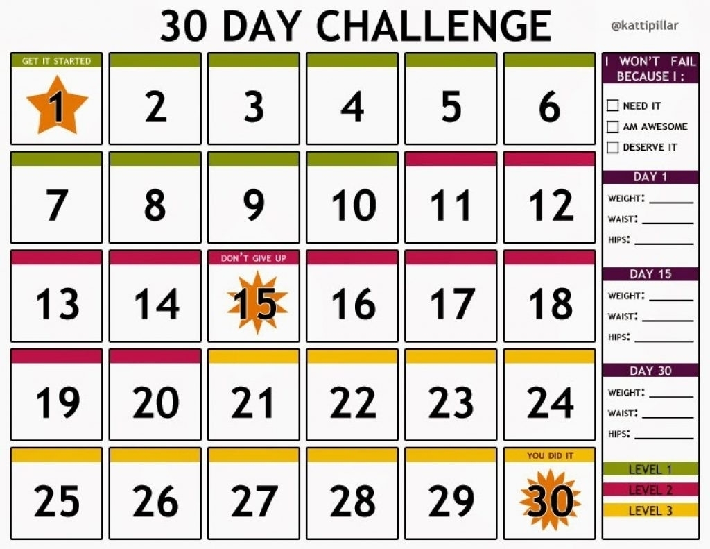 30 day countdown printable monthly printable calender printable countdown calendar to march 25th