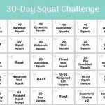 30 Day Squat Challenge 30day Squat Challenge Schedule