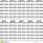 5 Year Calendar With Images 5 Year Calendar Calendar 5 Year Calendar
