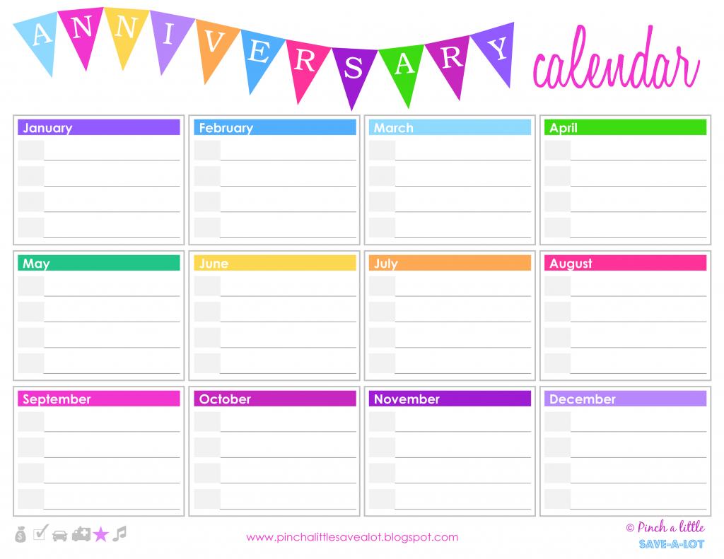 birthday anniversary calendar templates at birthday and anniversary calendars