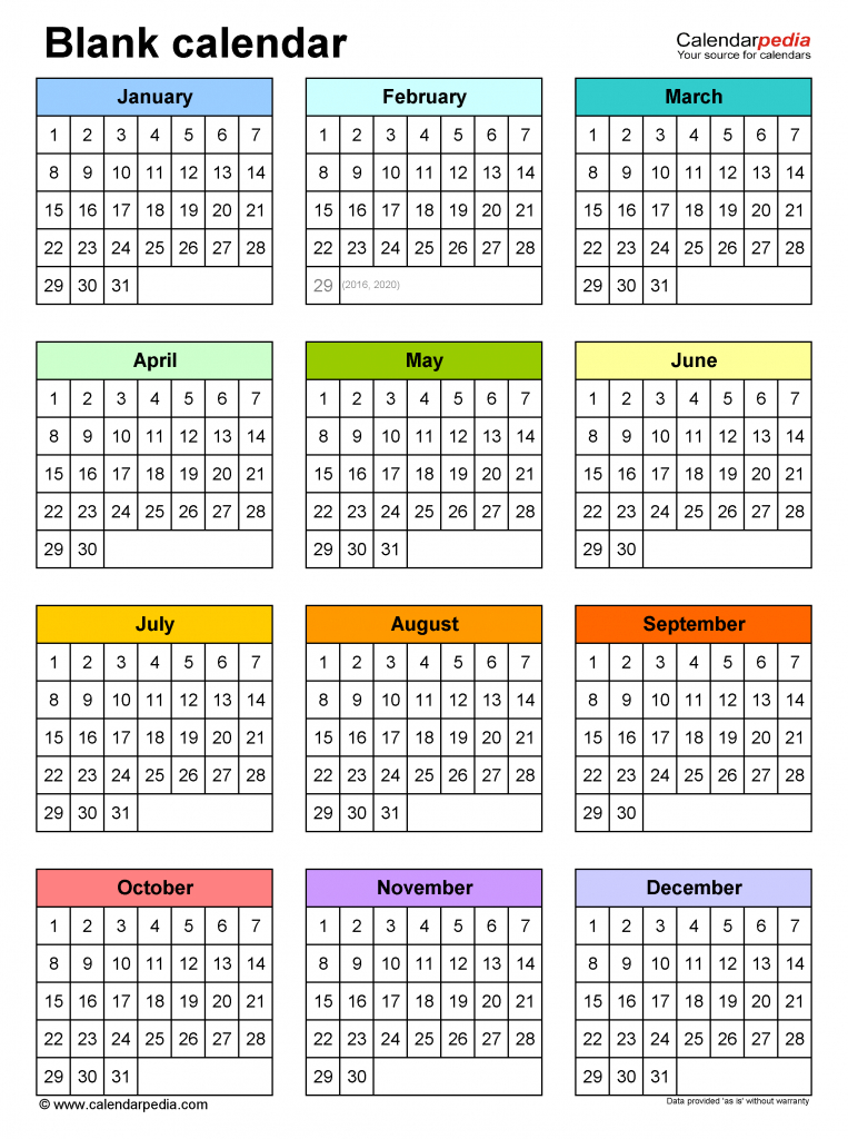blank calendars free printable microsoft word templates 10 year monthly calendar template