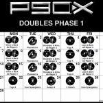 Custom P90x Doubles Calendar With Optimal Health Often Comes P90x Doubles Calendar