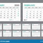 Desk Calendar 2020 Template Week Starts On Sunday Set Of 8 X 11.5 Printable Calendar