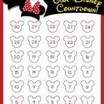 Disney Countdown Free Printable Disney Countdown Disney Countdown Printable Planner