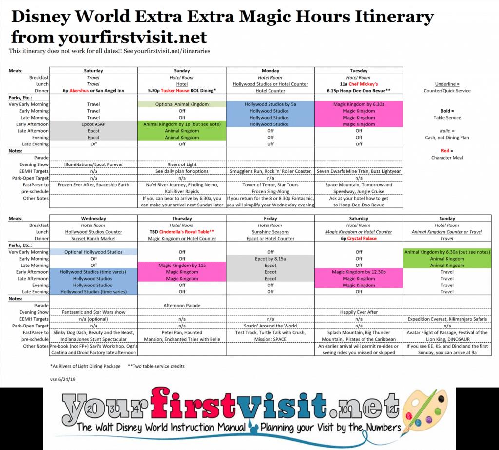 disney magic hours calendar 2019 samyysandra extra extra magic hours calendar