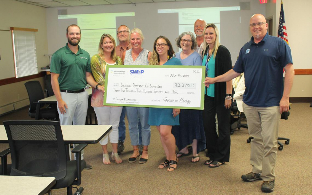 energy efficiency nets big check for superior school superior and district