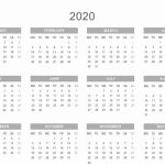 Free Printable 2020 Monthly Calendar Template With Holidays 10 Year Monthly Calendar Template